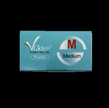 Latex púderes gumikesztyű 100db - M (7-8) méret