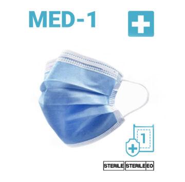 Egyszer használatos Sterilizált Szájmaszk - Felnőtt méret (11002)