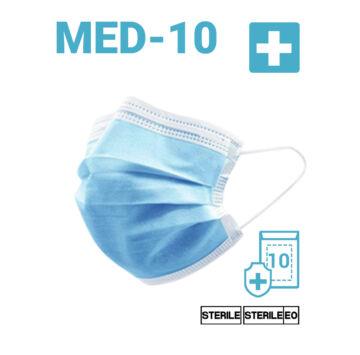 Egyszer használatos Sterilizált Szájmaszk - Felnőtt méret (11010) 20 DB