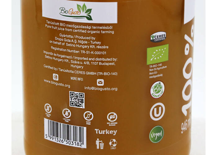 SETINO BIO Gold Mix 100% gyümölcslé, 946 ml (HU-ÖKO-02)