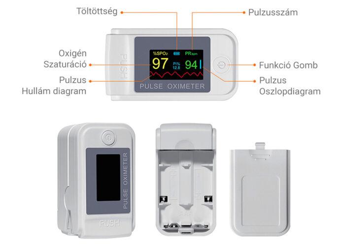 Setino Oximéter - Véroxigénszint és pulzus mérő