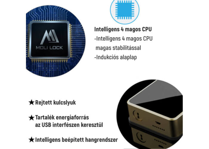 SETINO L661WR2 Intelligens zárszerkezet Wi-Fi dobozzal